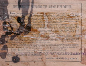 Alexis Type-Writer Operationg Instructions