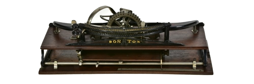 Boston Typewriter, circa 1886