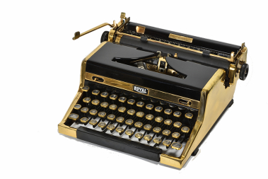 The Golden Royal Portable Typewriter, 1949