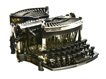 Williams No. 1 typewriter with curved keyboard.